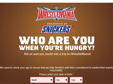 WWE & SNICKERS Brand Hungry Sweepstakes