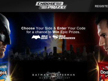"DORITOS ""Batman v Superman: Dawn of Justice"" Choose Your Side Sweepstakes"