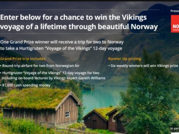 Vikings on HISTORY Explore Norway Sweepstakes