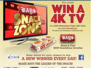 """The Bays English Muffins """"Get in the Bays Snack Zone"""" Sweepstakes"""