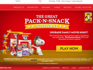 The Horizon Organic Great Pack-N-Snack Giveaway Sweepstakes