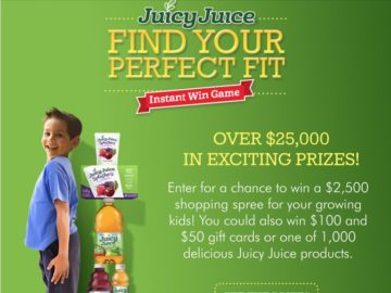 Juicy Juice's Find Your Perfect Fit Instant Win Game and Sweepstakes