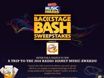 Cheddar Goldfish Crackers Radio Disney Music Awards Backstage Bash Sweepstakes