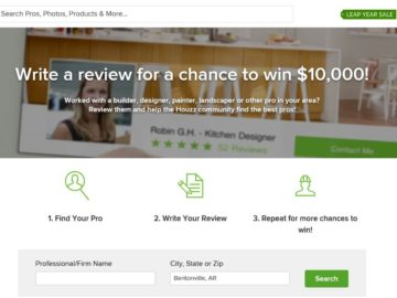 Houzz Pro Reviews Sweepstakes