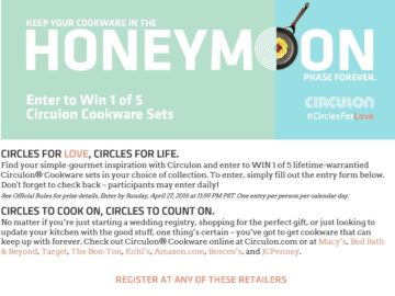 The 2016 Circulon Circles for Love Promotion Sweepstakes