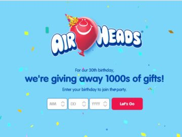 Airheads Epic Birthday Promotion