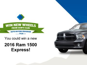 The Sam's Club March Car Giveaway Sweepstakes