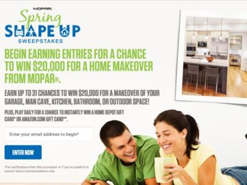 The Mopar Spring Shape Up Sweepstakes