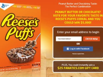 The Reese's Puffs Game Day Sweepstakes