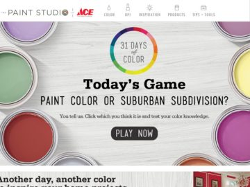 The Ace Hardware 31 Days of Color Sweepstakes