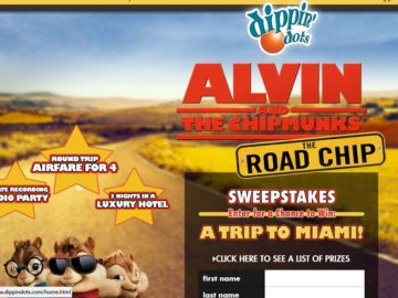 The DIPPIN' DOTS / ALVIN AND THE CHIPMUNKS: THE ROAD CHIP Sweepstakes