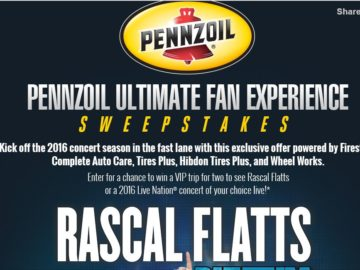 The Pennzoil Ultimate Fan Experience Sweepstakes