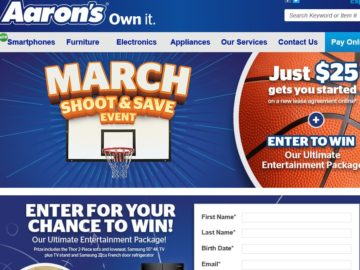 """The Aaron's """"Ultimate Entertainment Package"""" Sweepstakes"""