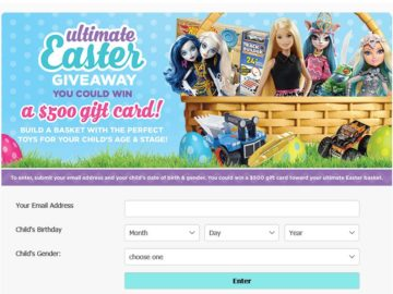 The Mattel Shop Ultimate Easter Giveaway Sweepstakes