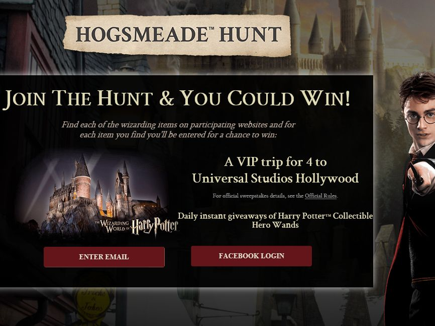 Hogsmeade Hunt Instant Win Game & Sweepstakes