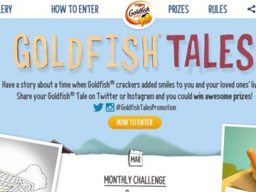 The Goldfish Tales Monthly Sweepstakes