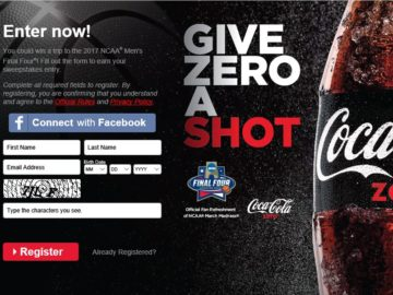 The Coca-Cola 2016 NCAA Text to Win Sweepstakes