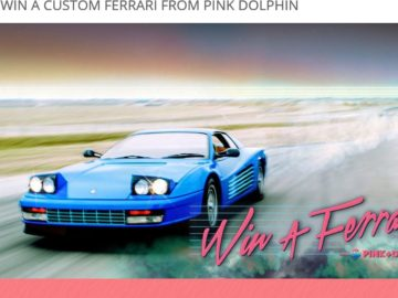 Zumiez 'Win a Ferrari From Pink Dolphin' Sweepstakes