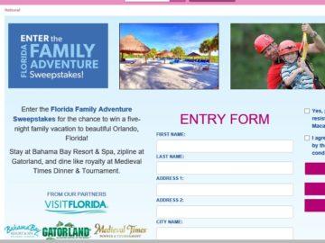 The Florida Family Adventure Sweepstakes