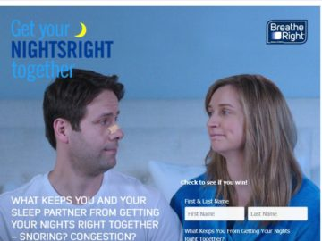 """The Breathe Right """"Get Your Nights Right Together"""" Promotion"""