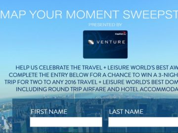 Worksheet. Travel  Leisure Map Your Moment Sweepstakes