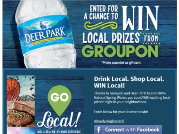 Nestlé Waters Deer Park Brand Go Local with Groupon Sweepstakes