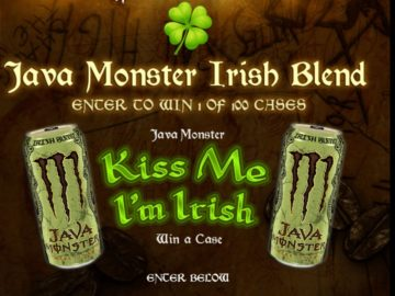 Monster Energy Company Java Monster Kiss Me, I'm Irish Sweepstakes