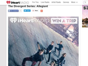 """Summit Entertainment """"The Divergent Series: Allegiant"""": Flyaway Beyond The Wall! Sweepstakes"""