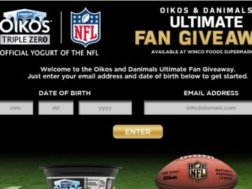 The 2016 DANNON OIKOS NFL Sweepstakes