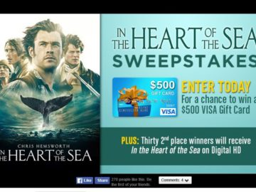 Warner Bros. In The Heart Of The Sea Sweepstakes