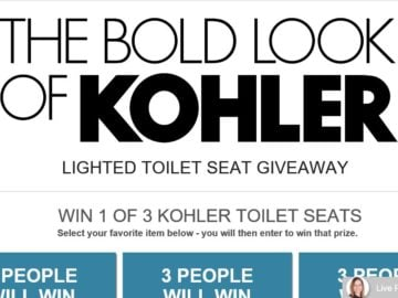 Build.com Bold Look of Kohler Sweepstakes