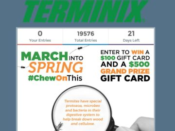 Terminix March Into Spring Sweepstakes