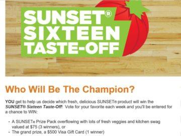SUNSET Sixteen Taste-Off Sweepstakes