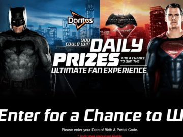 "The DORITOS ""Batman v Superman"" Sweepstakes – Select States"