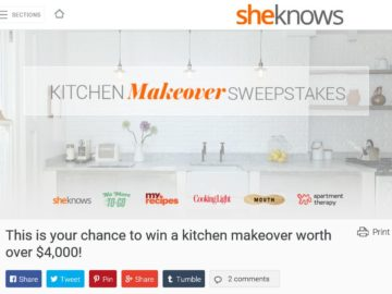The Kitchen Makeover Sweepstakes