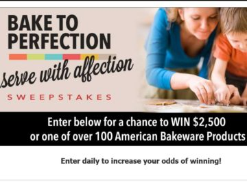"""The American Bakeware """"Bake To Perfection, Serve With Affection"""" Sweepstakes"""