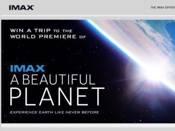 The A Beautiful Planet IMAX Sweepstakes