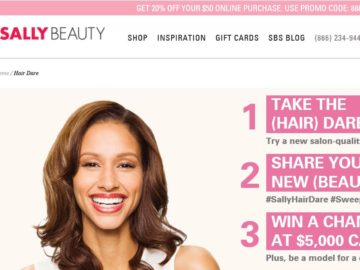 "The ""Sally Hair Dare"" Sweepstakes"