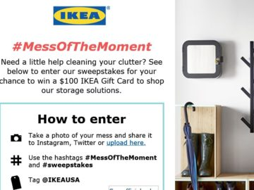 IKEA #MessofTheMoment Sweepstakes