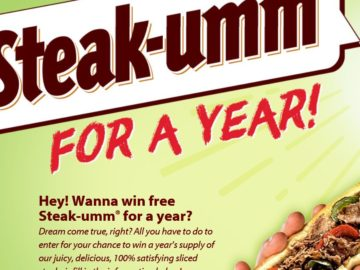 The Steak-Umm Company, LLC  Steak-Umm for 1 Year Giveaway Sweepstakes