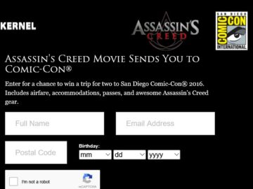 Assassin's Creed Movie Sends You to Comic-Con Sweepstakes