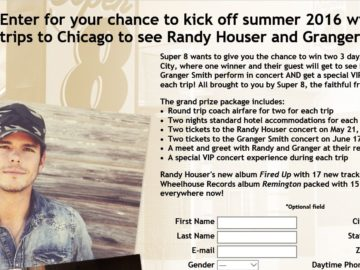 Super 8 Randy Houser and Granger Smith Super Fan Experience