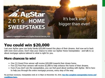 The AgStar Home Sweepstakes