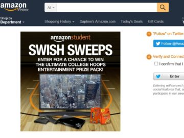 The Amazon Student Swish Sweepstakes
