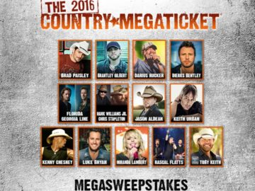 The 2016 Country Megaticket Mega Sweepstakes