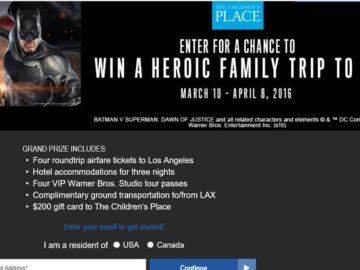 The Children's Place: Clash of the Heroes Sweepstakes
