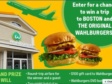 A&E's Trip to the Wahlburgers Sweepstakes