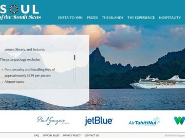 Paul Gauguin Cruises Soul of the South Seas Sweepstakes