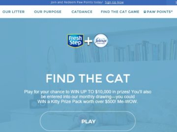 Fresh Step Paw Points Find the Cat Game Sweepstakes