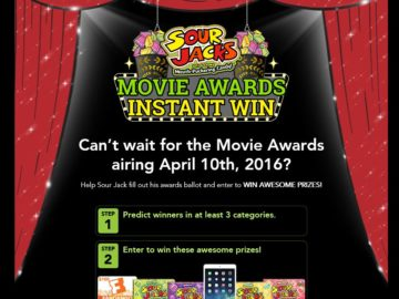 Sour Jacks Movie Awards Instant Win Game